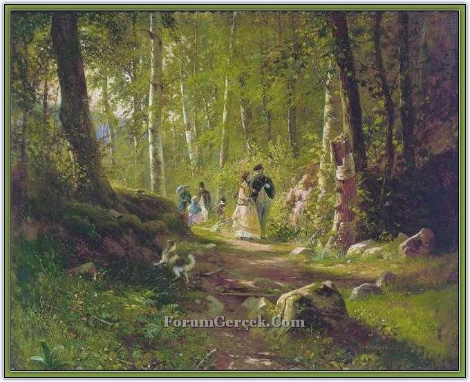Ormanda yürüyüş 1869