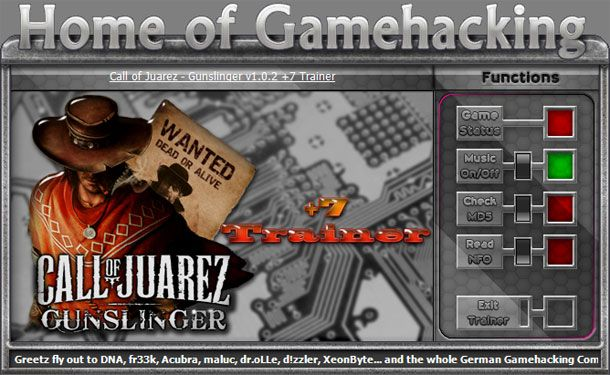 Call of Juarez: Gunslinger v1.0.2 Steam +7 Trainer [HoG]